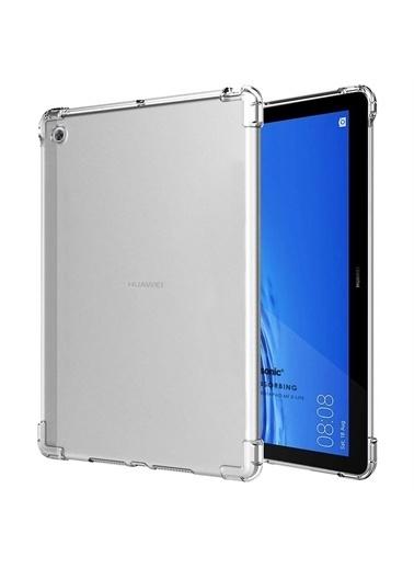 Microsonic Huawei Mediapad M5 Lite Kılıf Shock Absorbing Şeffaf Renksiz